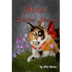 Aries zodiac cat blank journal