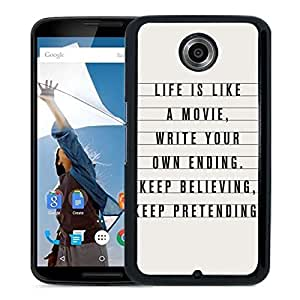 Life Is Like A Movie Google Nexus 6 Phone Case On Sale