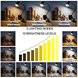 BOHON Clamp Lamp Reading Light 3 Color Modes 10