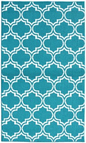 garland rug silhouette area rug 5 by 7feet tealwhite