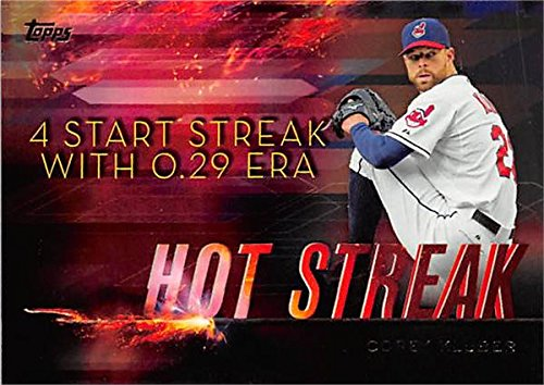 Corey Kluber baseball card (Cleveland Indians Cy Young winner TGT16) 2015 Topps #HS17 Hot ()