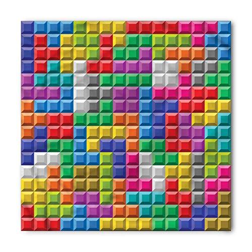 - Ambesonne Video Games Bandana, Colorful Blocks Art, Unisex Head and Neck Tie