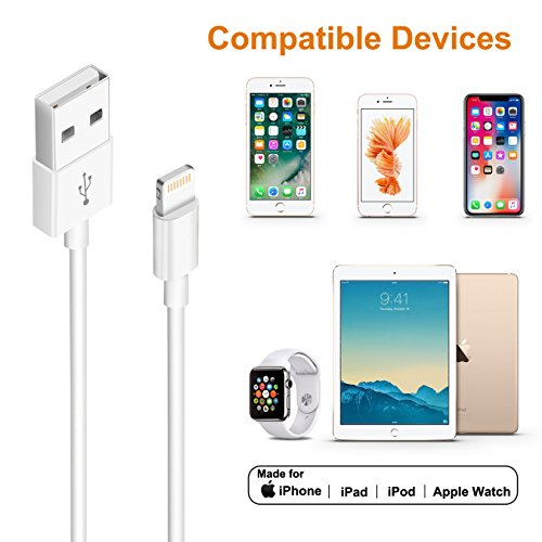 iPhone Charger,Lightning Cable Charger Kit (Dual USB Car Charger+Wall Charger+2 X Lightning Cables) for iPhone 8,iPad Charger Kit for iPhone X/8/7/6s/5s/Plus, iPad Pro/Air 2/Mini and More by YouCoulee (Image #4)