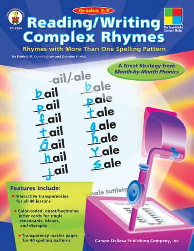 Reading/Writing Complex Rhymes, Grades 2 - 3: Rhymes with More Than One Spelling Pattern (The Four-Bolcks Leteracy Model)