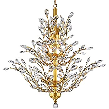 Branch Of Light 13 Light Gold Chandelier With Clear