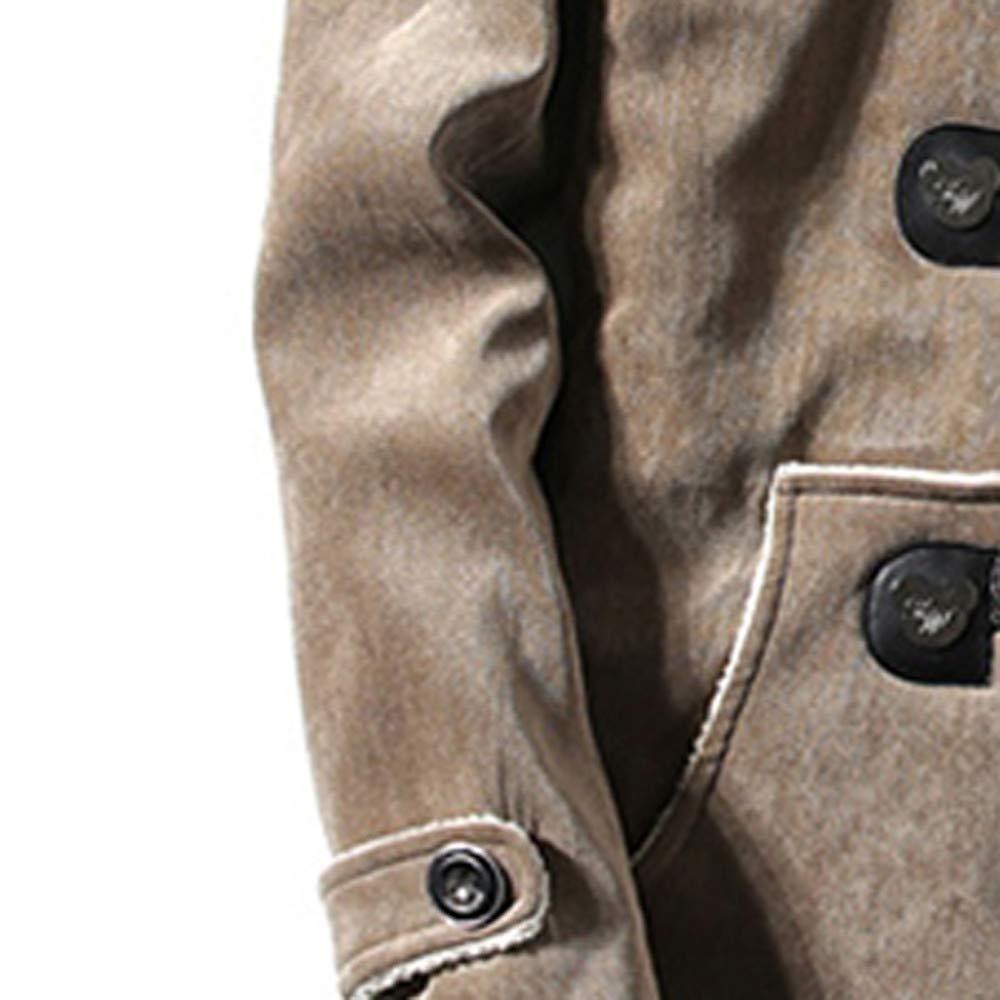 Yvelands Mens Winter Deer Terciopelo Piel Blusa Engrosamiento Abrigo Outwear Top: Amazon.es: Ropa y accesorios