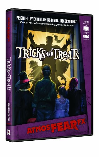 AtmosFX Tricks and Treats Digital Decorations DVD for Halloween Holiday Projection -