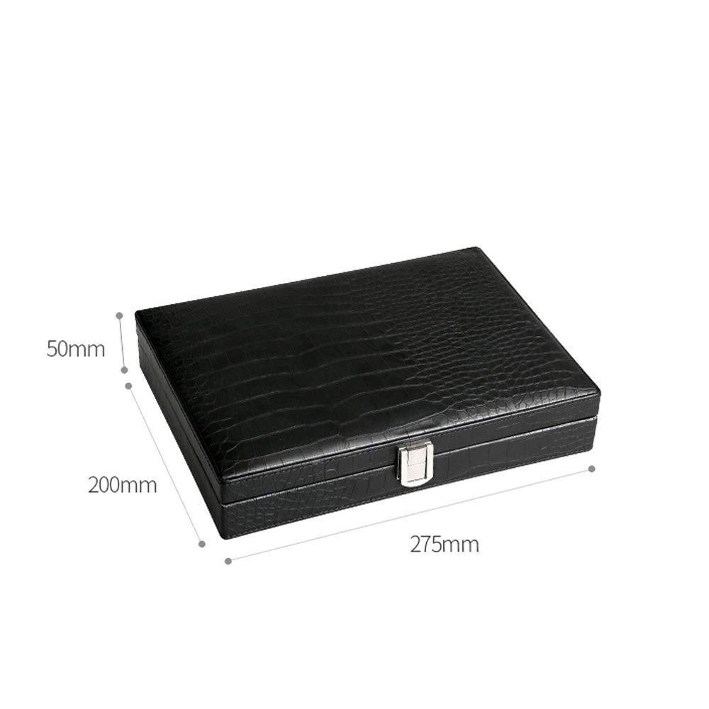 HYZXJHE Cigarette Case, Cedar Wood Portable Leather Cigar Box Cigar Humidifier Box by HYZXJHE (Image #2)
