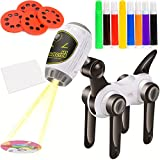 7TECH Drawing Projector Children's Art Toy Playset with 32 Patterns and 8 Colorful Water Pens Treasures Tracer Art Projector For Kids - Machine Dog
