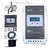 EPEVER 10A MPPT Solar Charge Controller 100V PV Tracer A 1210A + Remote Meter MT-50 + Temp Sensor Solar Charge with LCD Display for Solar Battery Charging