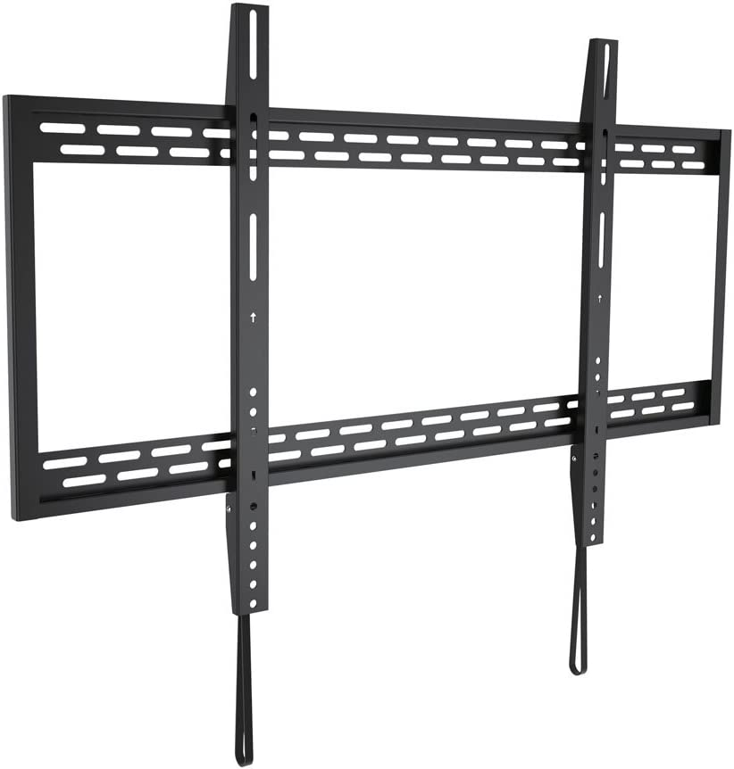 Monoprice Stable Series Fixed TV Wall Mount Bracket for TVs 60in to 100in Max Weight 220 lbs VESA Patterns Up to 900×600 Works with Concrete Brick UL Certified
