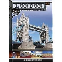 London  Wall Calendar - 2016 Wall Calendars - Celebrity Calendars - Travel Calendars - Poster Wall Calendars - Monthly Wall Calendars by Dream International