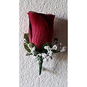 Burgundy Velvet Rose Bud Corsage or Boutonniere 53