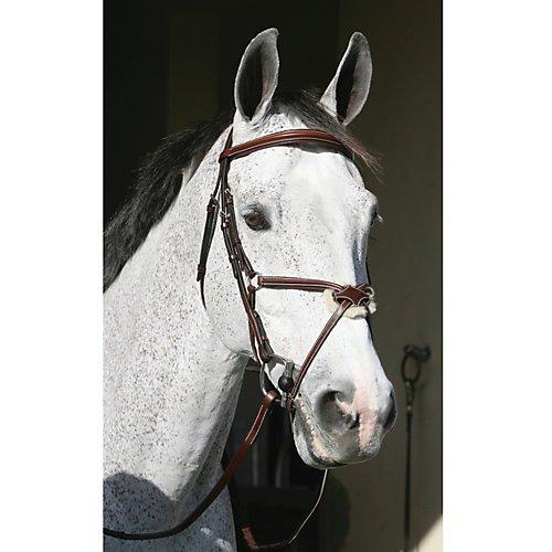 Henri de Rivel HDR Pro Mono Crown Figure 8 Bridle Horse Black