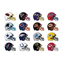32 wall decals stickers NFL logo on helmets. Good size: 15cm