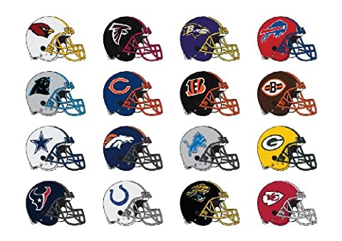 NFL logo on helmet 32 wall decals stickers. Good size: 6 inches each (Nfl Helmets Kids)