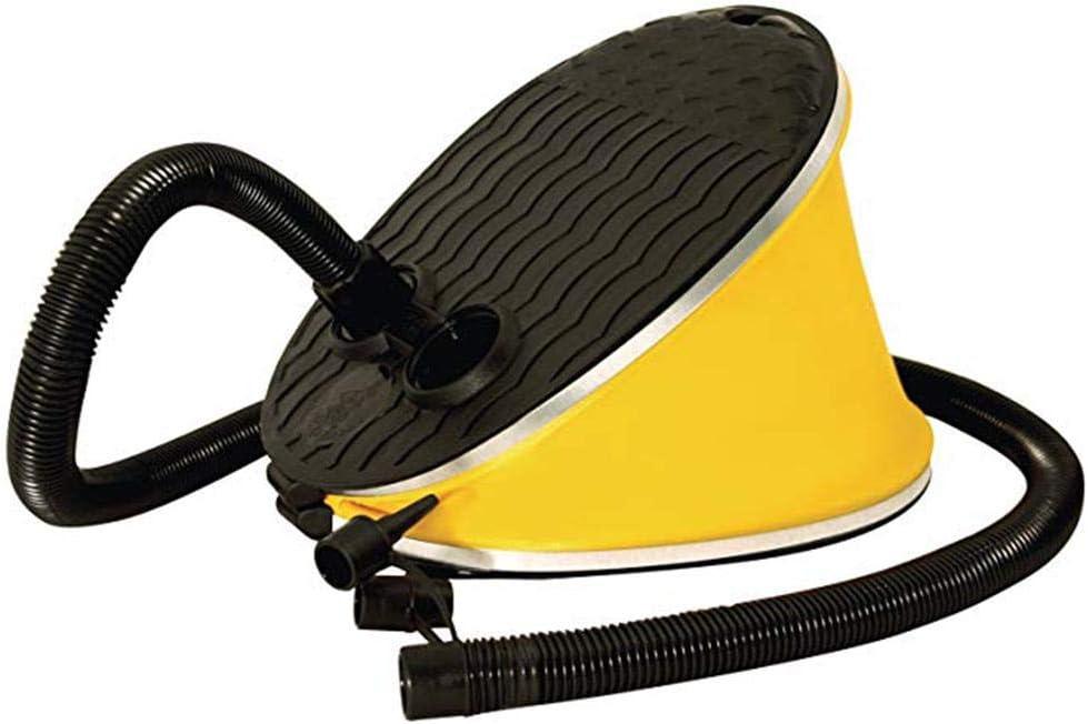 Rubyu Bellows 3L Air Pump Foot Pump Airstep Foot Pump for Inflatable Items such as Air Mattress Air Bed Pool with 2 Adaptors Air Nozzles Attachments