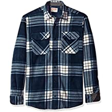 Wrangler Authentics Men's Long Sleeve Plaid Fleece Shirt