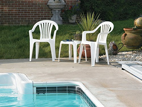 Adams Mfg 8234-48-3704 WHT Low Back Chair - Quantity 1 by Adams