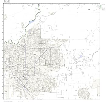 Clovis Ca Zip Code Map.Amazon Com Clovis Ca Zip Code Map Not Laminated Home Kitchen