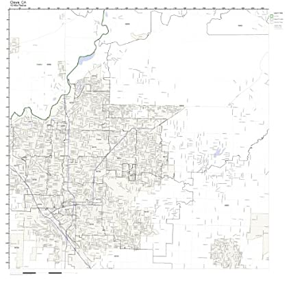 Clovis Ca Zip Code Map.Amazon Com Clovis Ca Zip Code Map Laminated Home Kitchen