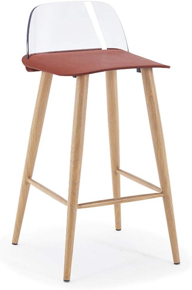 XX XiaoXIAO Chaise de Bar créative Minimaliste Moderne Chaise Haute Tabouret Haut Accueil Salle à Manger Chaise Chaise de Bar, 7 Couleurs Tabouret de Bar (Color : A) D