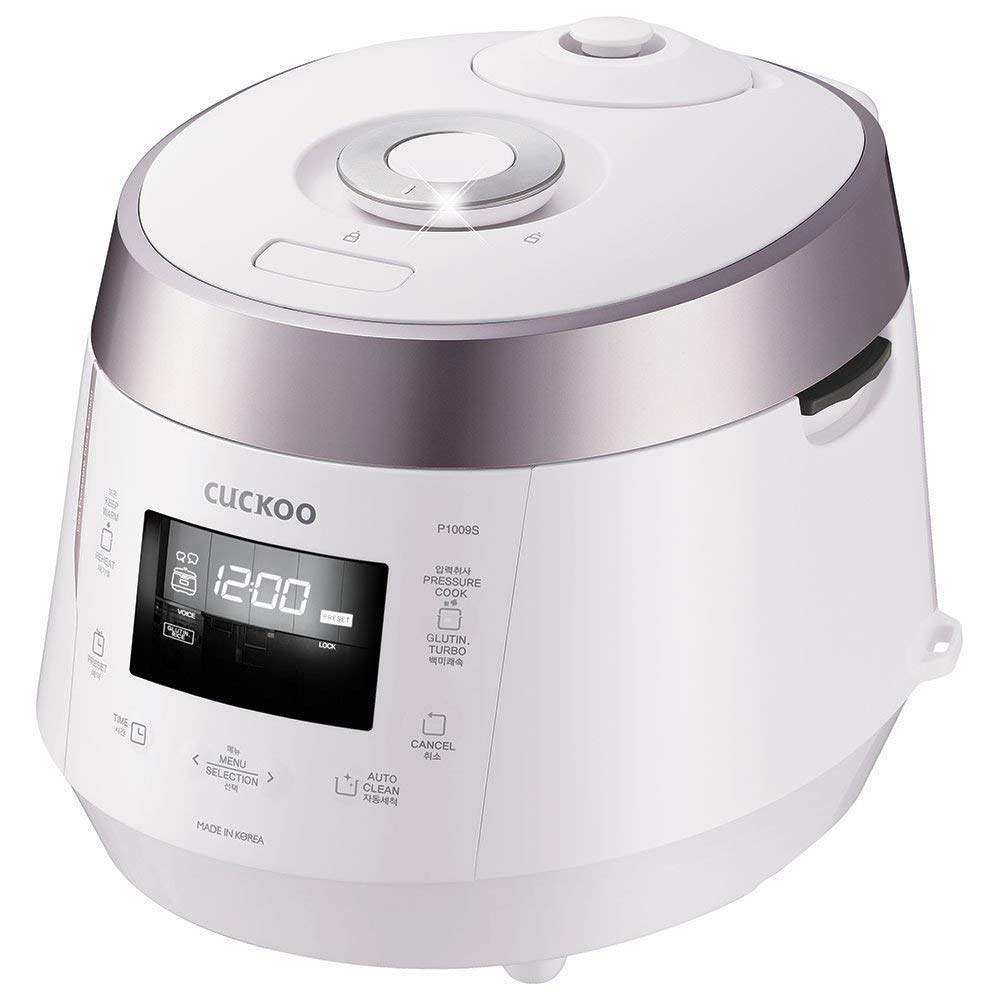 15.60 x 11.40 x 11.60in Cuckoo CRP-P1009SW Electric Heating Pressure Rice Cooker White