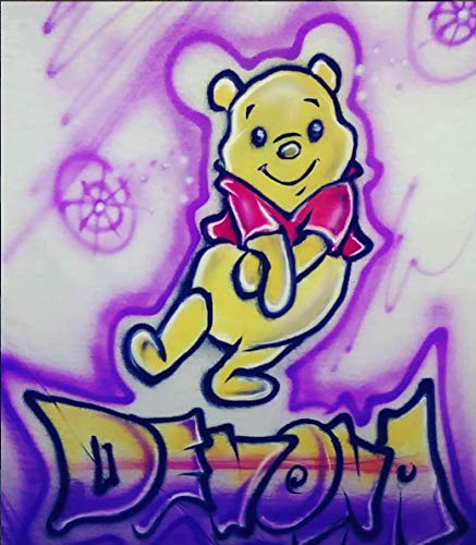 GT Artland Airbrushed Winnie The Pooh Design on White T-Shirt ()