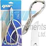 YNR Professional Toe Nail Cutters Clippers Nippers Chiropody Podiatry Heavy Duty - For Very Thick Nails Fungus Nails