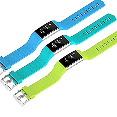 Fitbit Charge 2 Bands, SKYLET Silicone Replacement Accessories Straps for Fitbit Charge 2 Watch Bands(No Tracker)