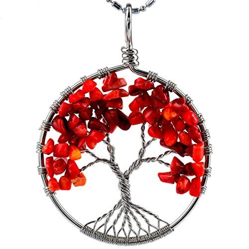 SUNYIK Tumbled Gemstone Tree Pendant product image