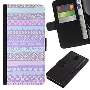 KLONGSHOP / Tirón de la caja Cartera de cuero con ranuras para tarjetas - Nordic Alaska Winter Sweater - Samsung Galaxy Note 3 III N9000 N9002 N9005
