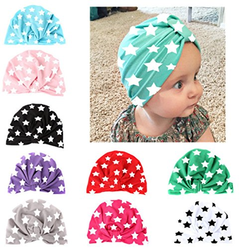 Hot Sale! New Newborn Baby Boy Girls Hat Infant Toddler Kids Cotton Cute Hat Beanie Caps (Size: 19.517.5cm, Hot Pink)