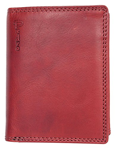 Natural of Red Whole Pedro Leather Dark Strong Wallet Leather Genuine Made w8qZx