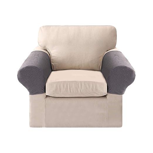 Sobotoo Juego de 2 Fundas para reposabrazos de sofá de Tela ...
