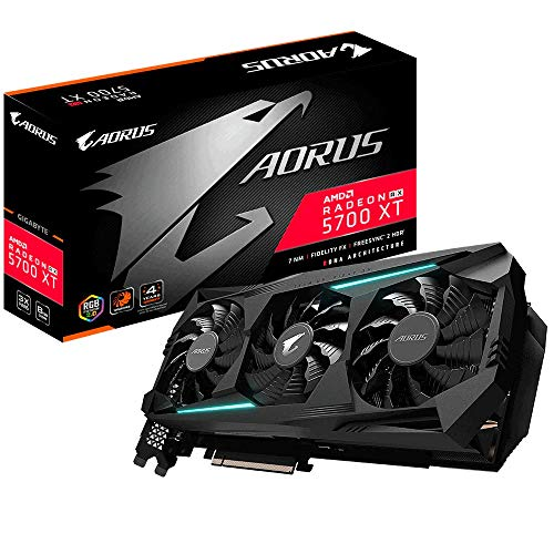 Gigabyte Aorus Radeon RX 5700 XT RGB 82 mm Triple Fan Graphics Card - 8 GB