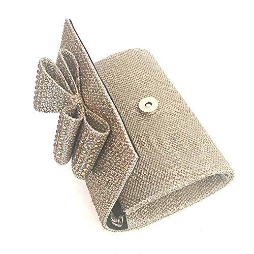 S Grande Oro s Womens Hand Nero Tote Bag The Bags Classic Argento Pvc Qztg capacità Bow Satin Clutch nOTw804qg