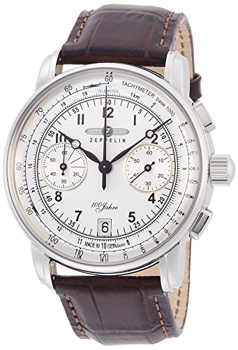 ZEPPELIN watch 100 Anniversary Model Silver Dial Chronograph 76741 Men's [regular imported goods]