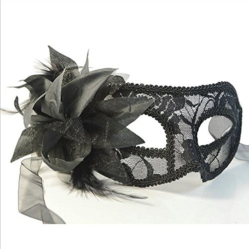 [QINJH Mosaic Merry Christmas Halloween Feather Mask Masks Birthday Party (Blue)] (Alien Resurrection Costume Design)