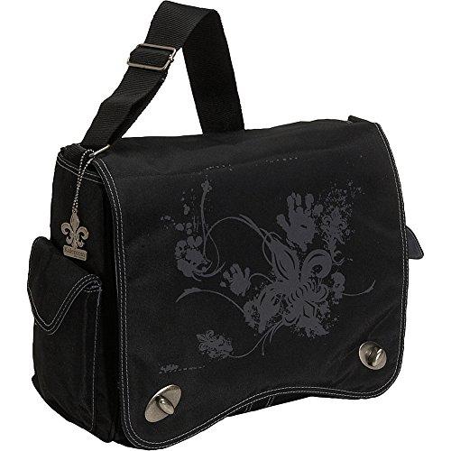 Kalencom Diaper Bag, Screened Black Fleur De Lis (Discontinued by (Fleur De Lis Flap)