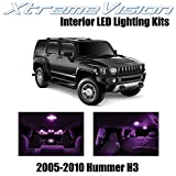hummer h3 lights - XtremeVision Hummer H3 2005-2010 (15 Pieces) Pink Premium Interior LED Kit Package + Installation Tool