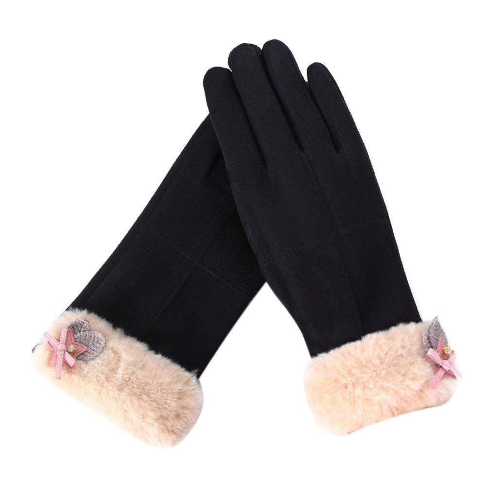 Women's Winter Gloves, Womens Fashion Winter Solid Full Finger Hand Outdoor Sport Warm Gloves