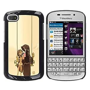 All Phone Most Case / Oferta Especial Duro Teléfono Inteligente PC Cáscara Funda Cubierta de proteccion Caso / Hard Case BlackBerry Q10 // Grim Reaper Couple