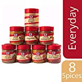 McCormick Spices, Everyday Essentials Variety Pack (Cayenne Red Pepper, Ginger, Cinnamon, Curry Powder, Cumin, Chili Powder, Turmeric, Paprika), 8 Count