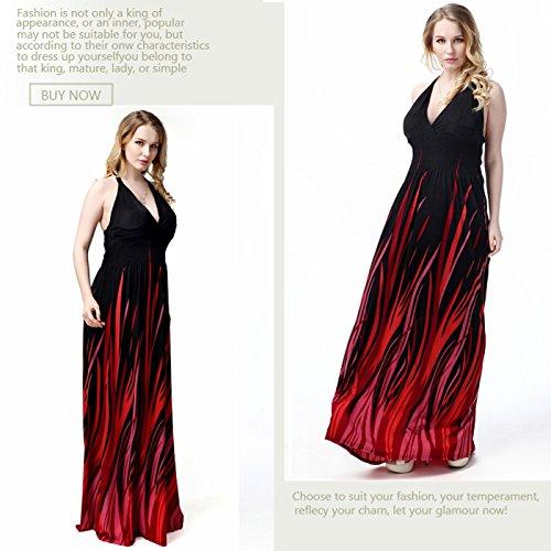 Plus Dress XL Swing A Neck Long V Backless XXXXXXXL Size Women Dress Borje Vintage Dress Line Black Sexy Halter Maxi xOqTaC
