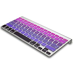 Kuzy - Purple Ombre Colors Keyboard Cover Silicone Skin for MacBook Pro 13\