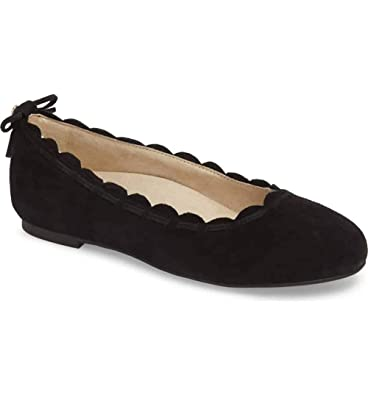 790ebb1ae9a Jack Rogers Women s Lucie Ballet Flat Black Suede 6.5 Medium US
