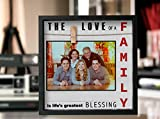 Instant Inspirations Love of a Family Picture Frame 4x6 • 5x7 Anniversary Picture Frame for Wife or Husband. Cleverly Designed Love Photo Frame. Fits up to 7x7. Awesome Present for Mothers