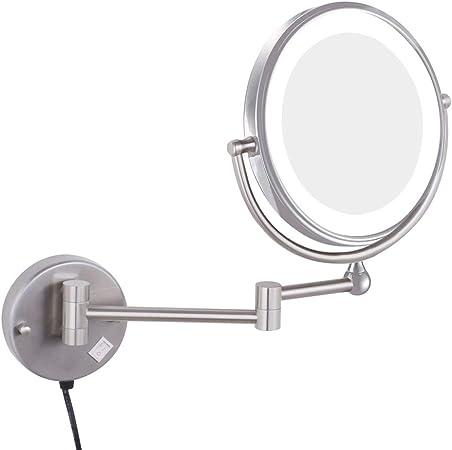 Miroir Grossissant Miroir De Maquillage Led Pliant Tenture Lampe