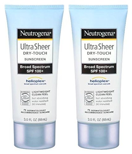 Neutrogena Ultra Sheer Sunscreen SPF 100+, 3oz, 2pk